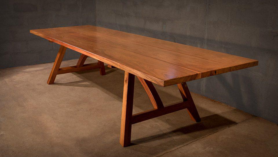 The Bridge Hardwood Table In Solid Zambezi Teak The