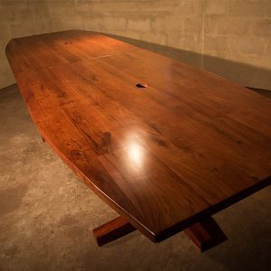 Boardroom Table with charging points our Baobab Table is made from African Hardwood Zambezi Teak. Perfect for offices, meeting rooms, reception, conferences. Top view