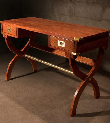 Kalahari-Campaign-Desk-finest-hardwood-solid-brass-fittings