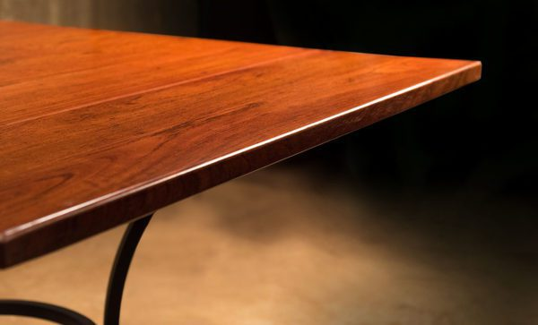 Wrought-Iron-Table-solid-teak-top-detail