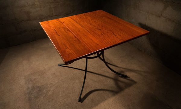 Wrought-Iron-dining-Table-square-teak-top