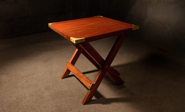Campaign-Camp-Side-Table-with-fixed-top
