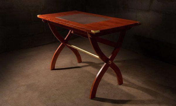 Safari-Desk-in-Zambezi-Teak-solid-brass-fittings