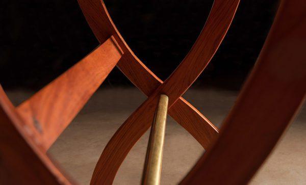 Safari-Desk-leg-and-brass-rail-detail