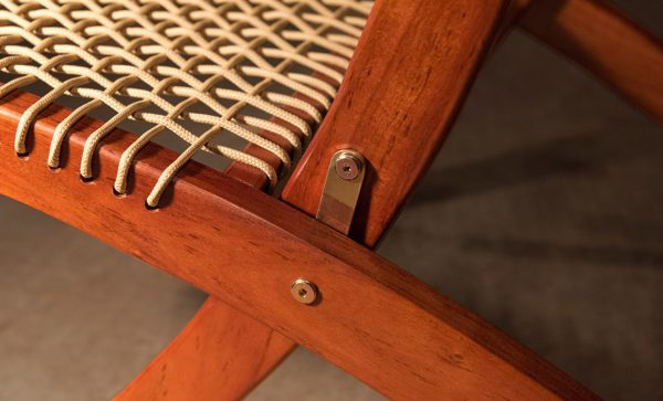 Wilderness-Chair-solid-brass-hinge-detail