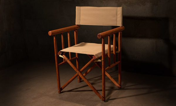 Kruger-Directors-Chair-with-padded-Auto-Sand-canvas-detail