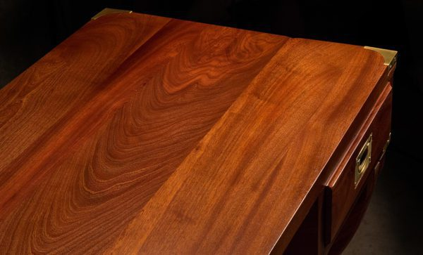 Kalahari-Campaign-Desk-in-African-mahogany-timber-detail